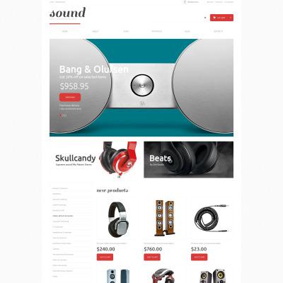 Thème WooCommerce adaptatif  pour magasin d'audio