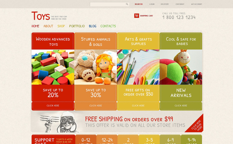 Toy Store Responsive Jigoshop Theme New Screenshots BIG
