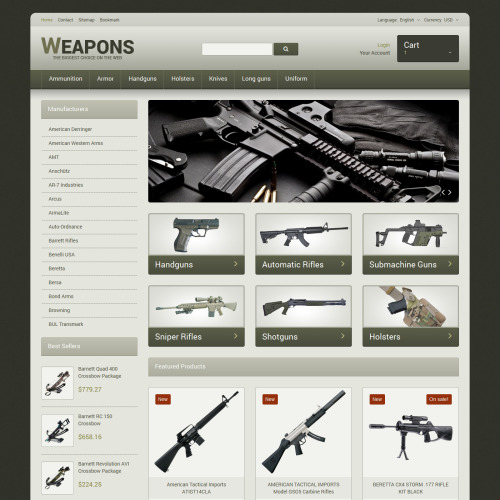 Weapons  - Responsive PrestaShop Template