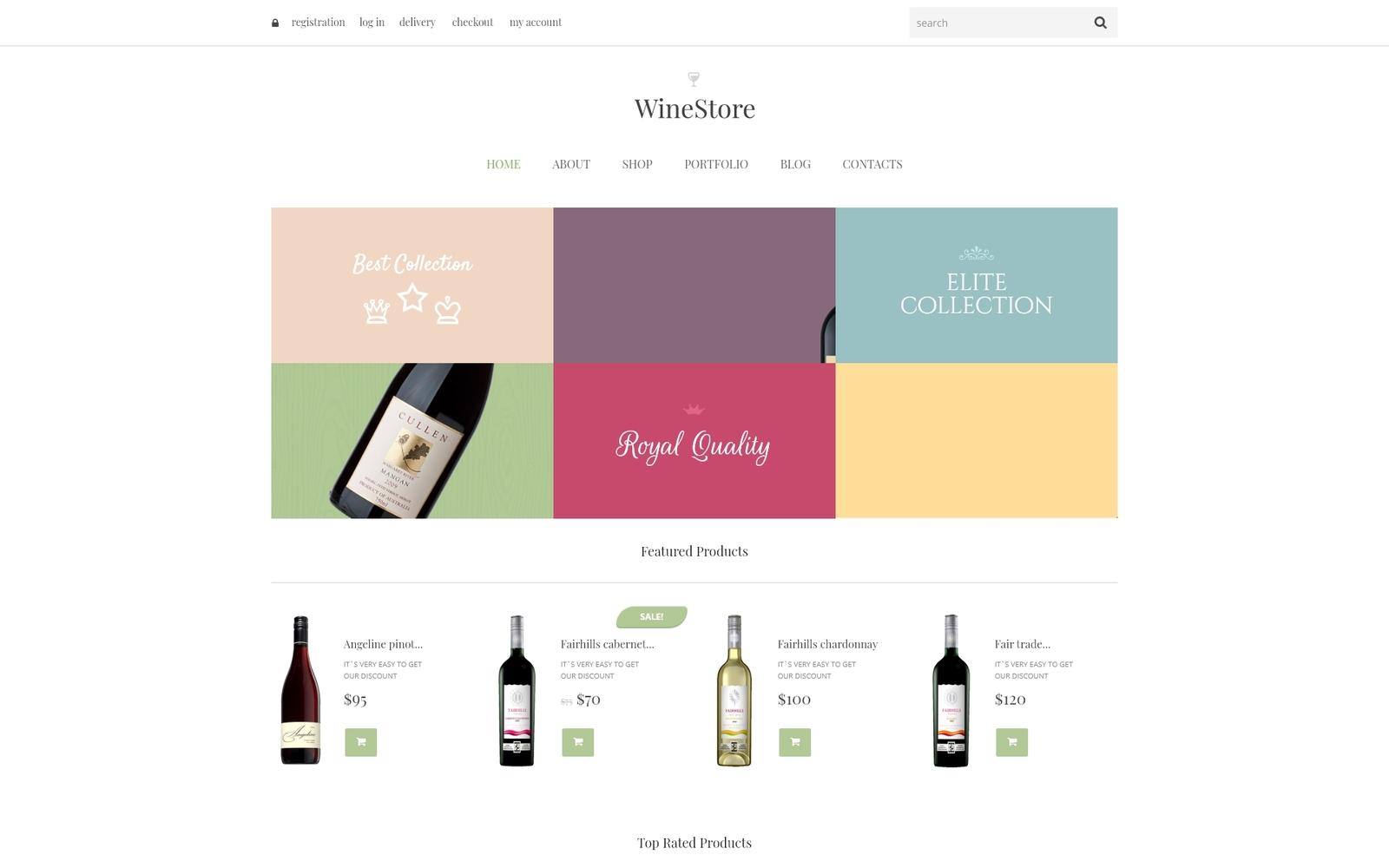Wine Responsive WooCommerce Theme