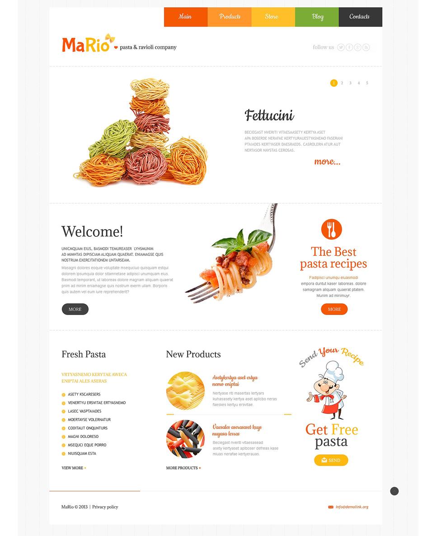 Шаблон сайта на тему итальянский ресторан #48303