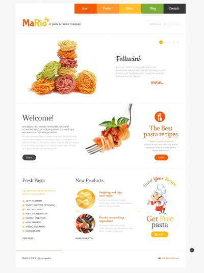WordPress шаблон №48303 на тему итальянский ресторан #48303