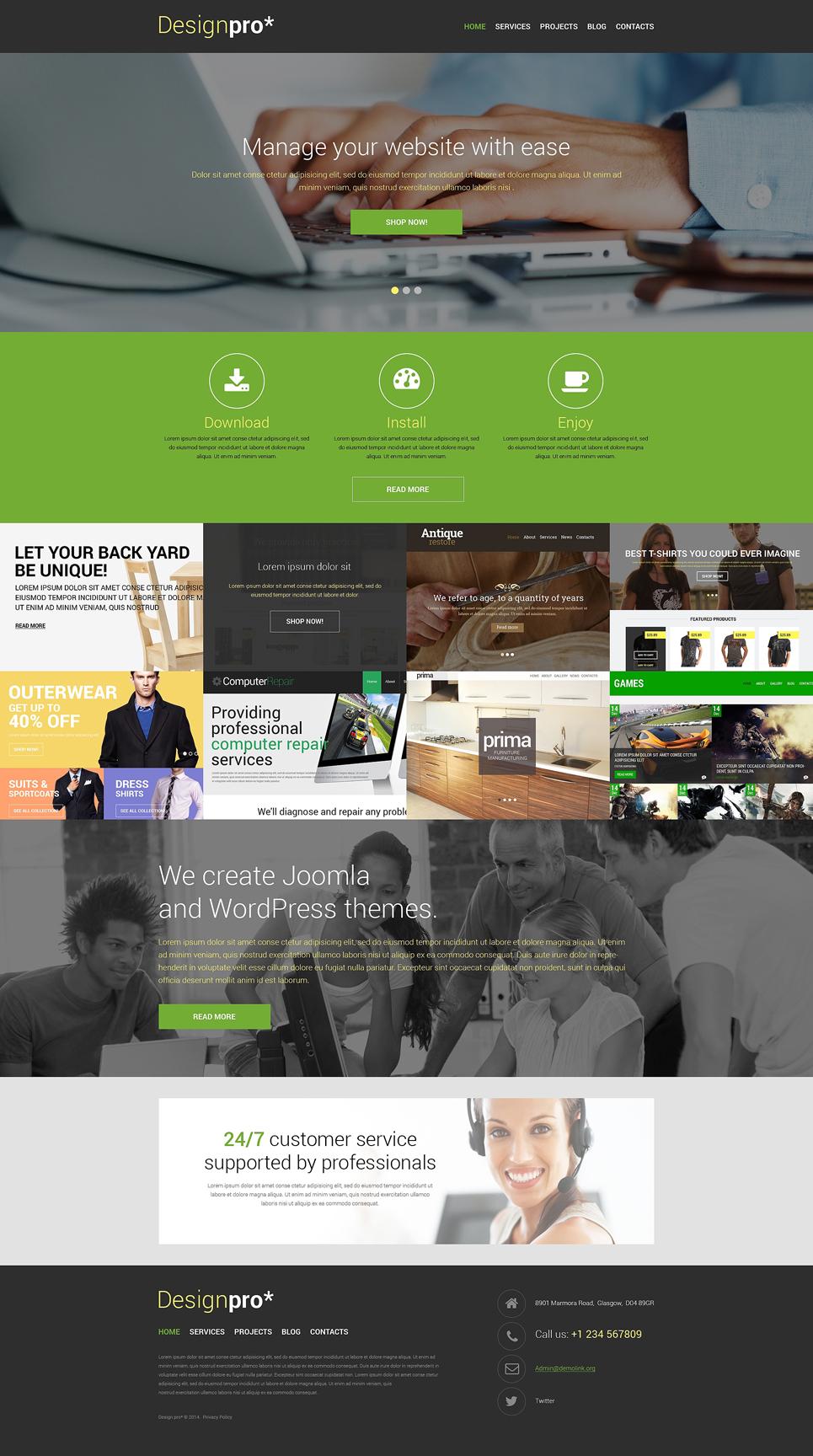 Шаблон сайта на тему дизайн студия #48312
