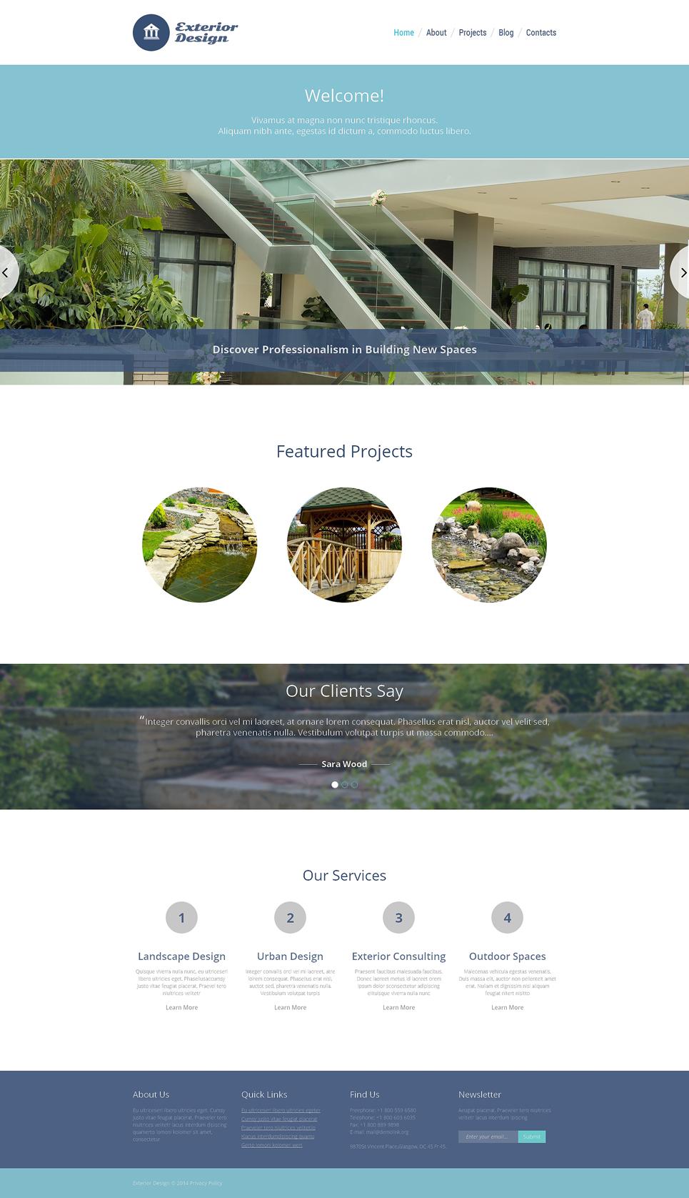 Шаблон сайта на тему садовый дизайн #48338