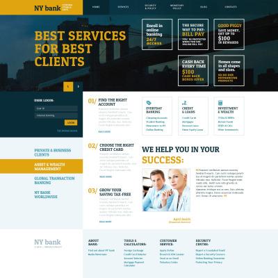 WordPress Theme #54732 für Bank