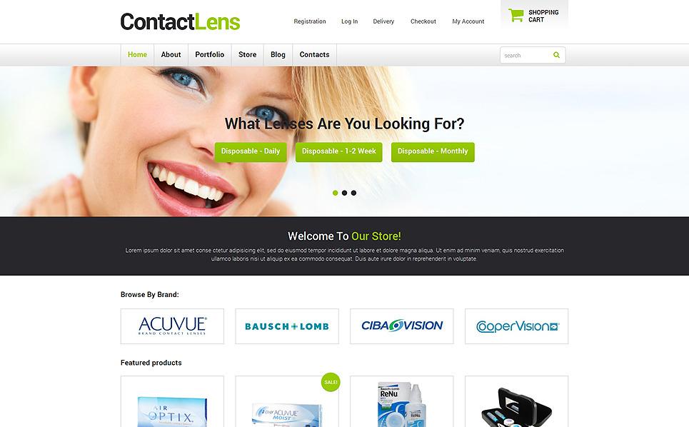 Template WooCommerce Responsive #48400 per Un Sito di Optometria New Screenshots BIG