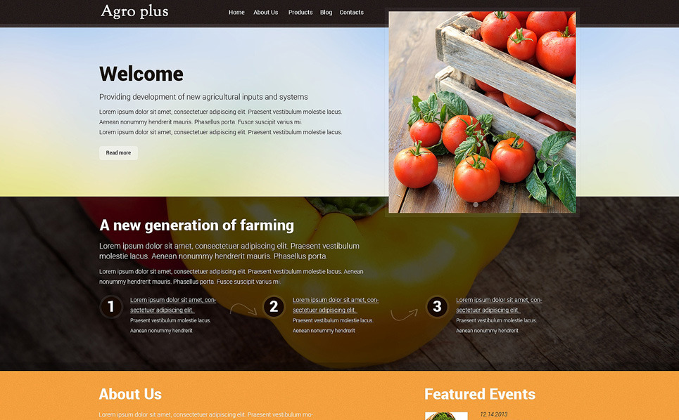 Template Drupal para Sites de Agricultura №48402 New Screenshots BIG