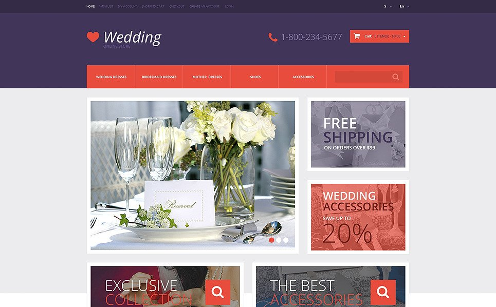 Responzivní OpenCart šablona na téma Svatební obchod New Screenshots BIG