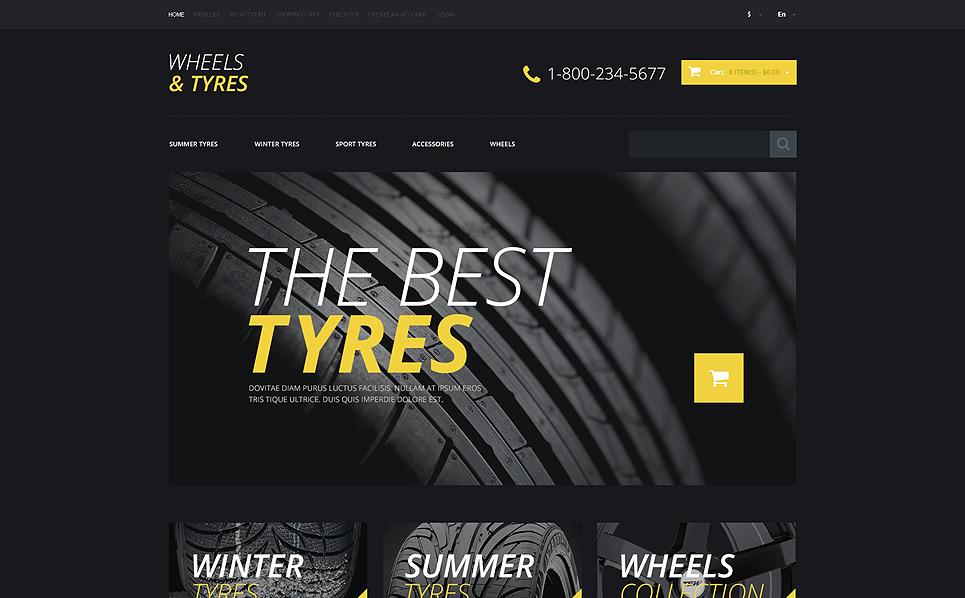 Responsive OpenCart Vorlage für Räder & Reifen  New Screenshots BIG