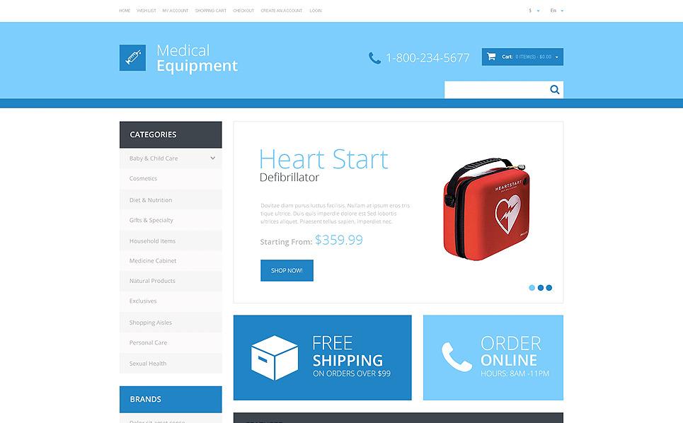 Plantilla OpenCart Responsive para Sitio de Equipos médicos New Screenshots BIG