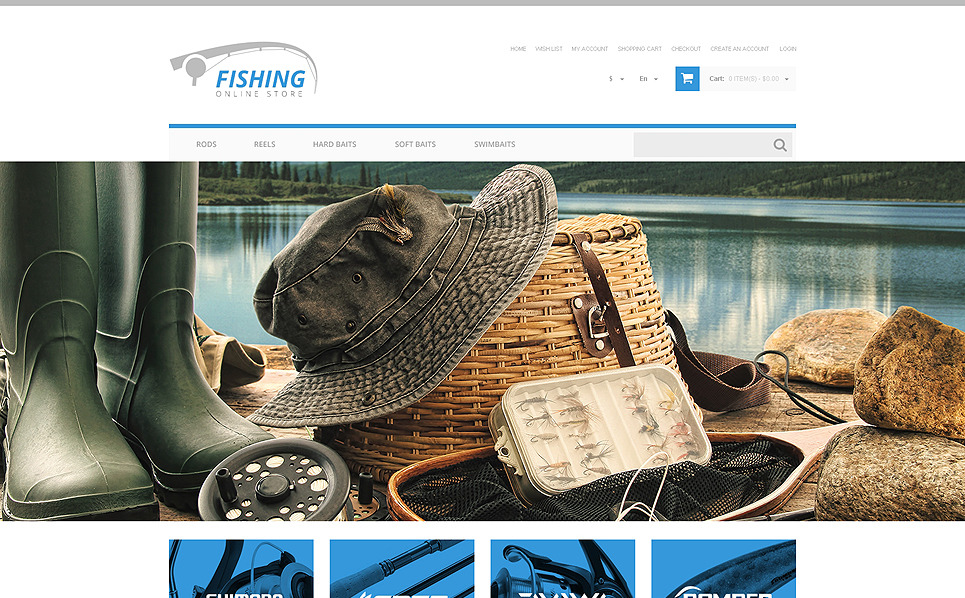 Plantilla OpenCart Responsive para Sitio de Pesca New Screenshots BIG