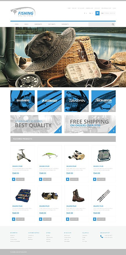 ADOBE Photoshop Template 48414 Home Page Screenshot