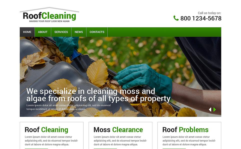 Responsive Website template over Dakbedekkiingsbedrijf  New Screenshots BIG
