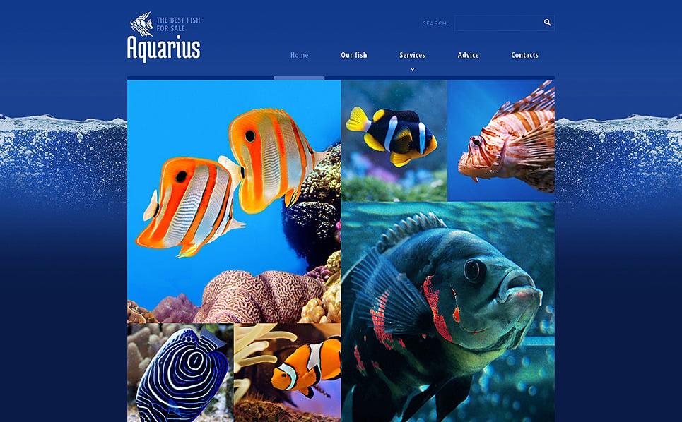 Адаптивний Шаблон сайту на тему риба New Screenshots BIG