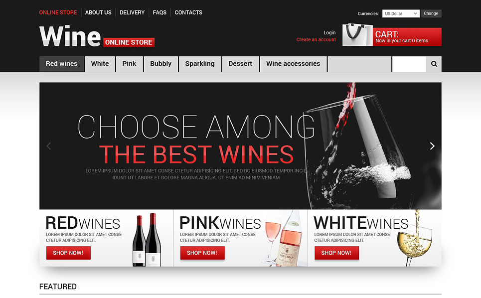 Template VirtueMart para Sites de Vinho №48418 New Screenshots BIG