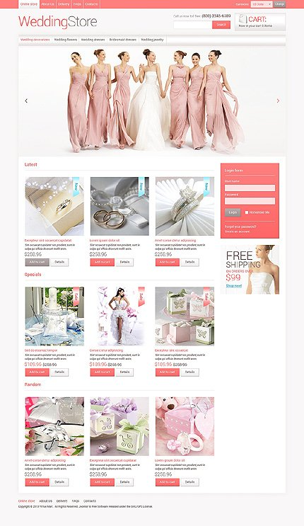 ADOBE Photoshop Template 48419 Home Page Screenshot