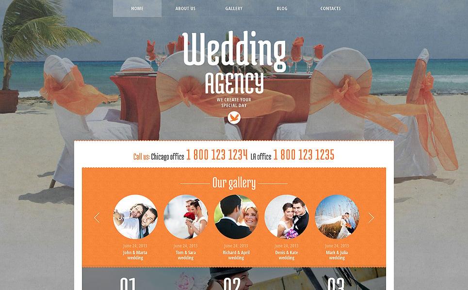 Reszponzív Esküvőszervezők  WordPress sablon New Screenshots BIG