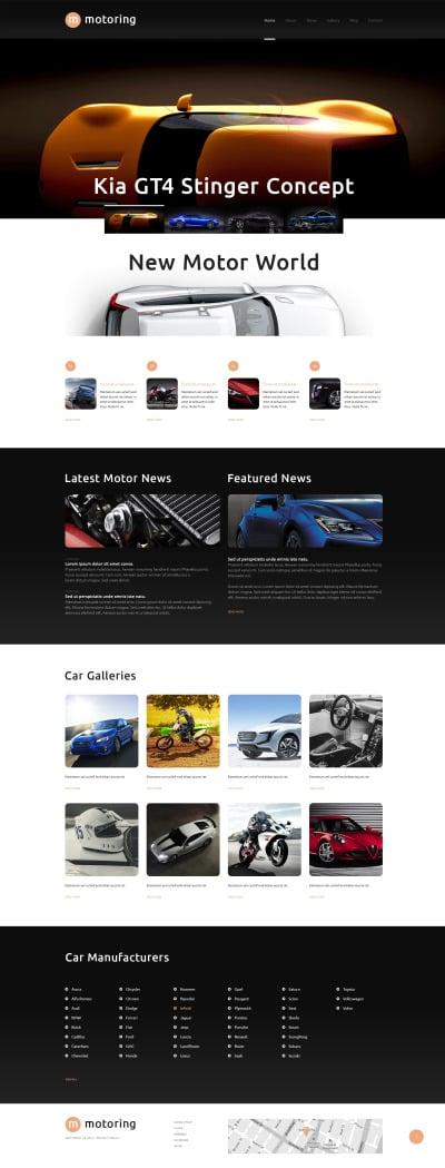 Bilklubb Responsivt WordPress-tema