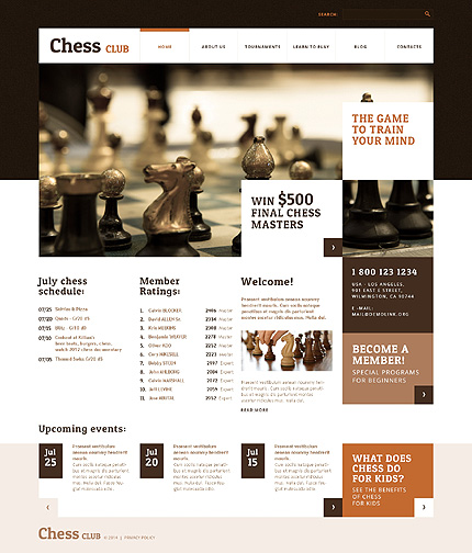 WordPress Theme/Template 48426 Main Page Screenshot