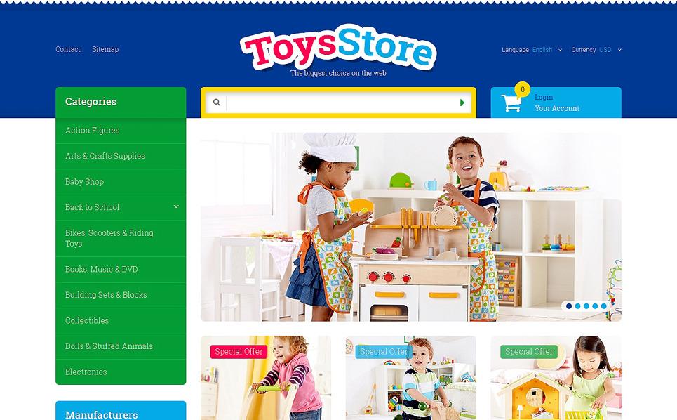 "PrestaShop Theme namens ""Kinderspielzeug"" New Screenshots BIG"
