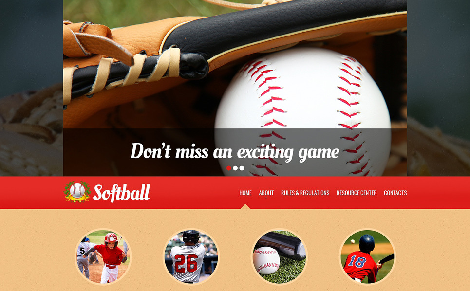 Template Siti Web Responsive #48433 per Un Sito di Baseball New Screenshots BIG