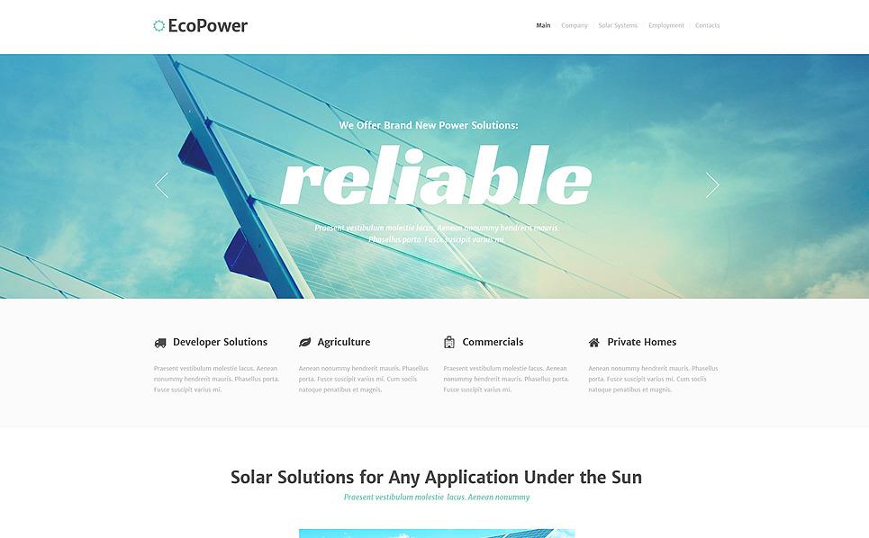 Responsive Website template over Alternatieve Energiebronnen  New Screenshots BIG