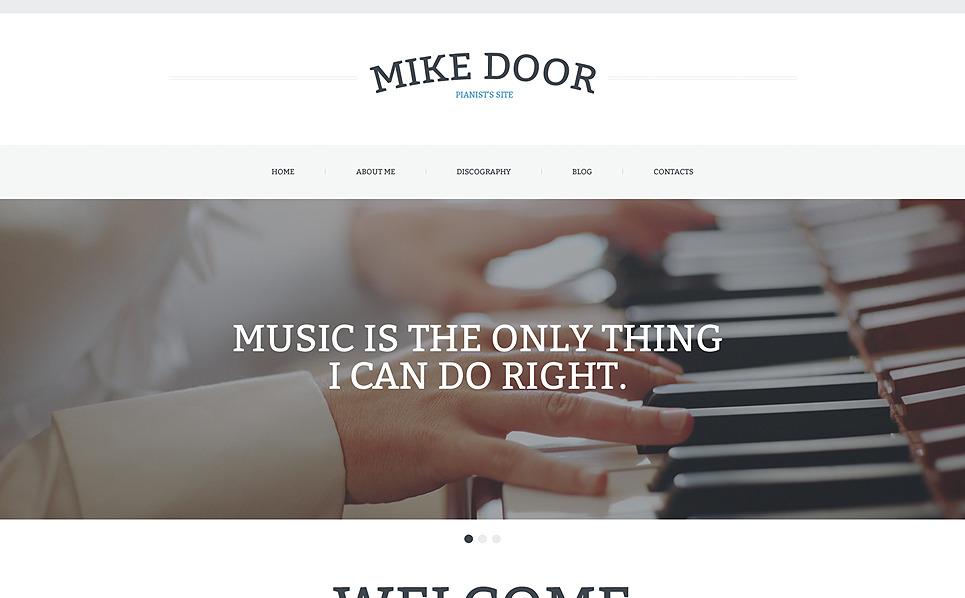 Reszponzív Személyes honlapok Weboldal sablon New Screenshots BIG