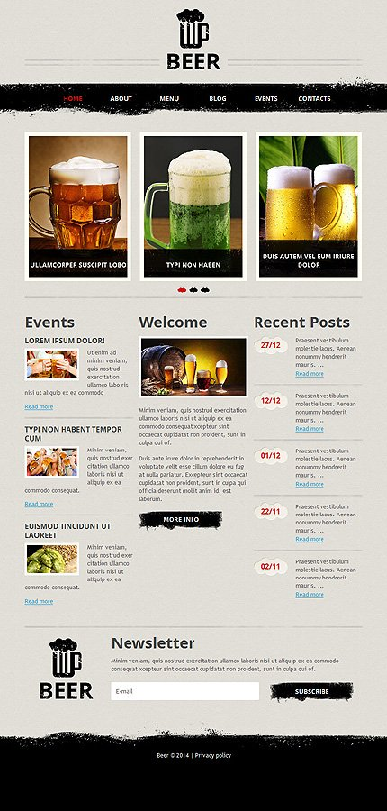 Joomla Theme/Template 48437 Main Page Screenshot