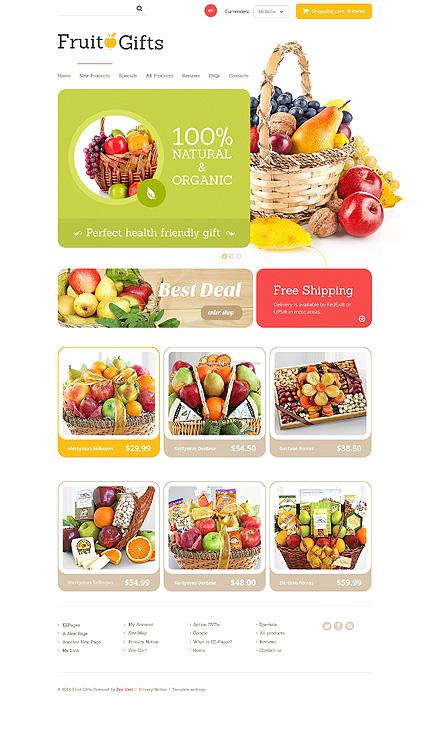 ZenCart Template 48442 Main Page Screenshot