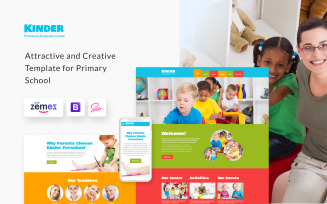 Kinder - Preschool Center HTML5