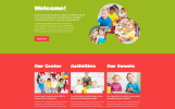 """Kinder - Primary School Creative HTML"" Responsive Website template"
