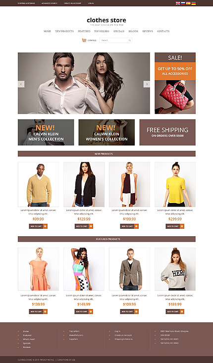 osCommerce Template 48467 Main Page Screenshot