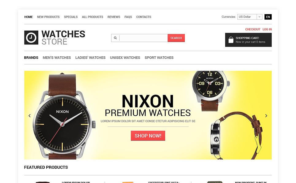 """""""Boutique de montres"""" thème Zen Cart  New Screenshots BIG"""