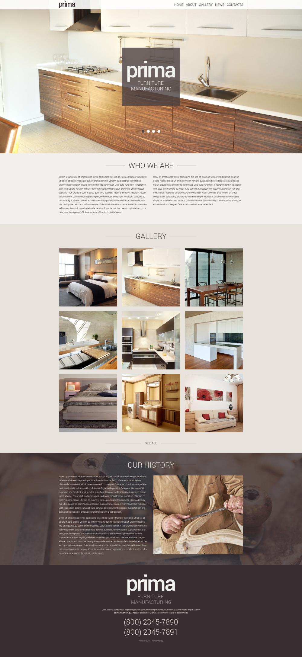Interior Furniture Wordpress Theme 48469