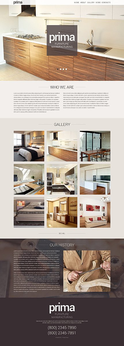 WordPress Theme/Template 48469 Main Page Screenshot
