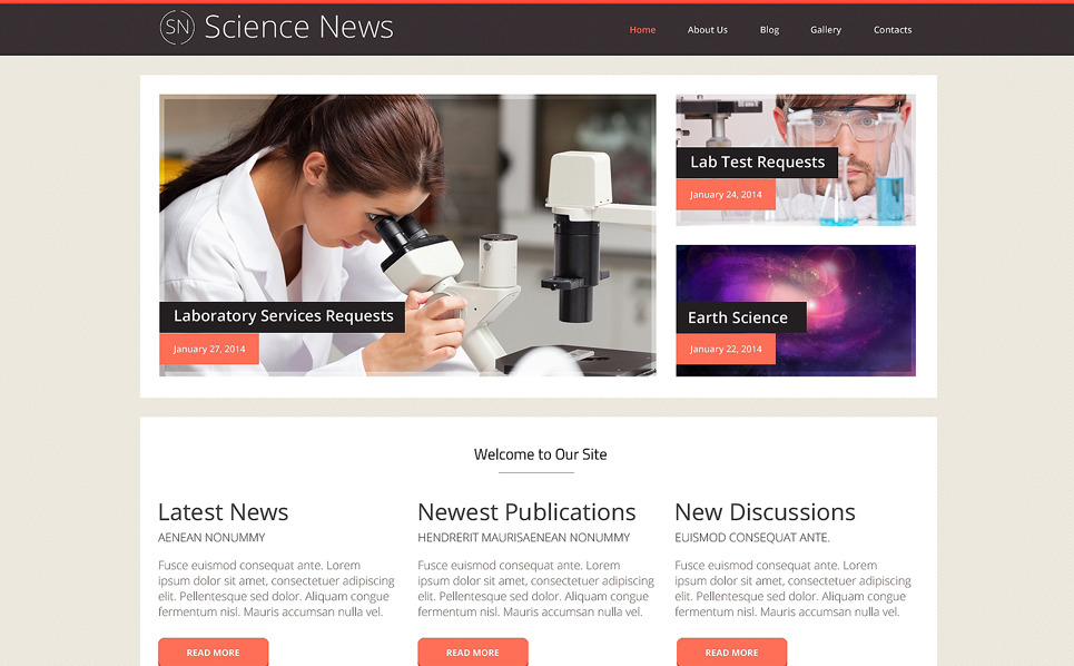 Responzivní WordPress motiv na téma Laboratoř New Screenshots BIG