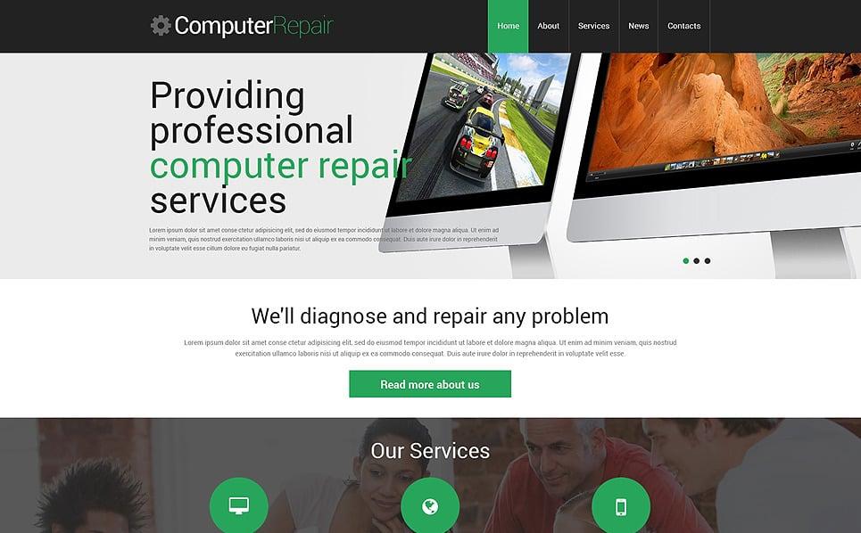 Reszponzív Számítógép javítás WordPress sablon New Screenshots BIG
