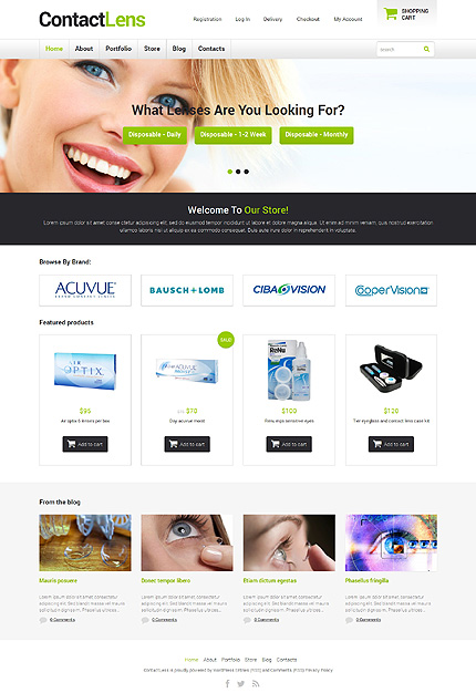 ADOBE Photoshop Template 48473 Home Page Screenshot