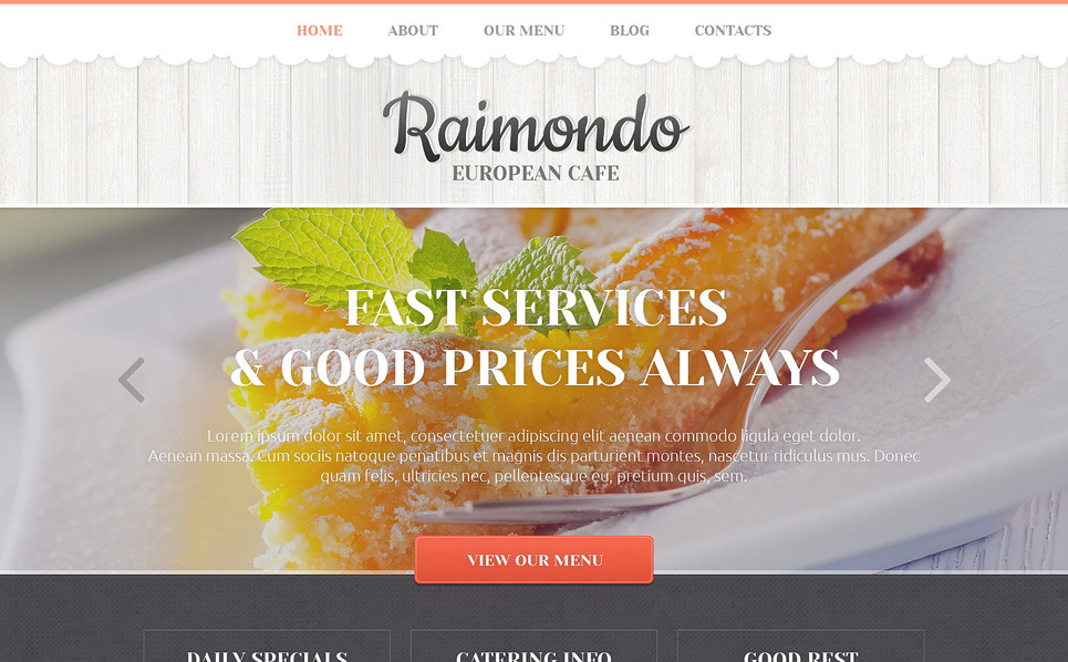 Plantilla Web Responsive para Sitio de Restaurante europeo New Screenshots BIG