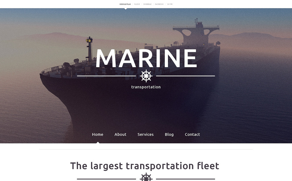 Template Web Flexível para Sites de Templates Marítimos №48479 New Screenshots BIG