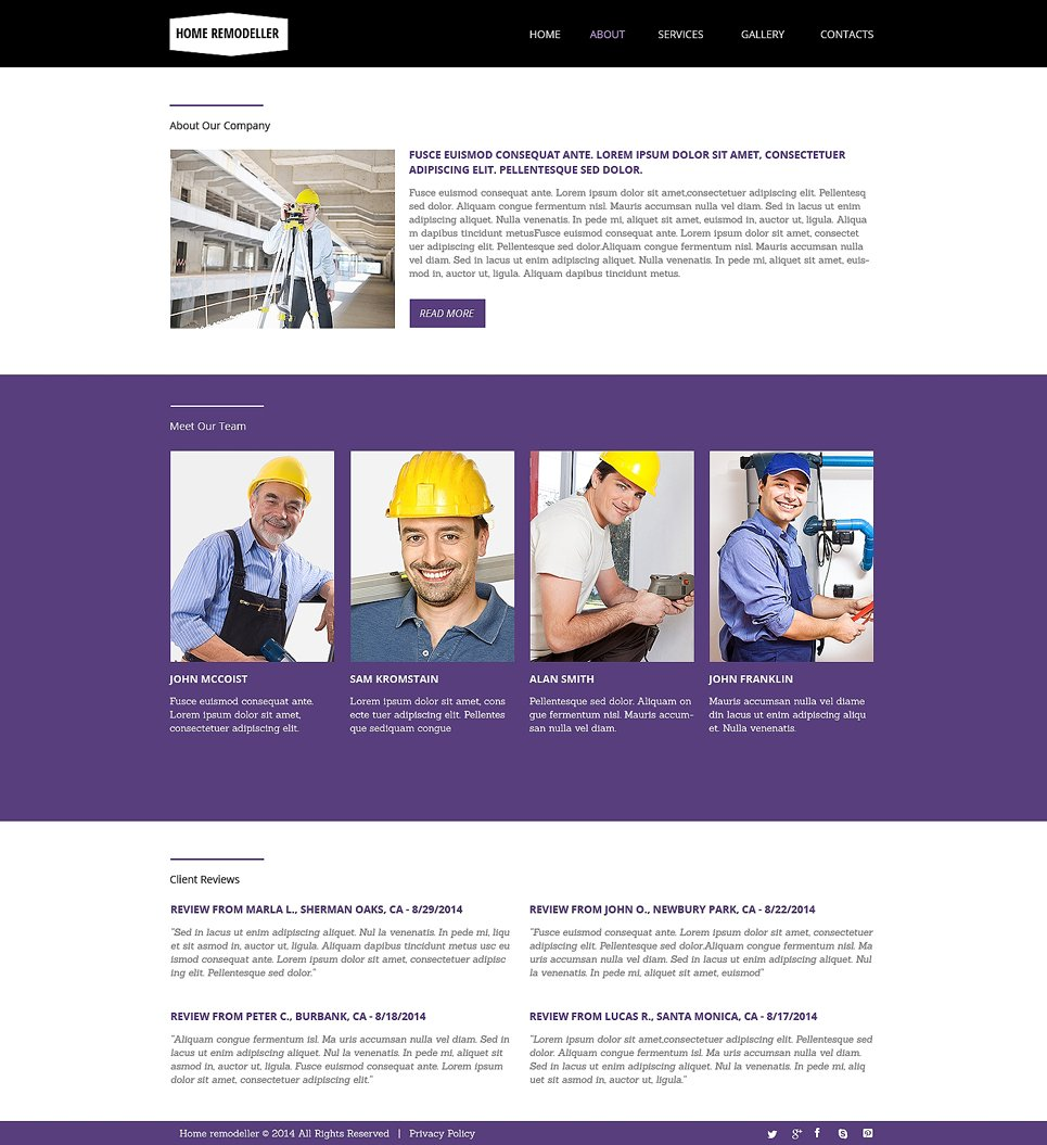 Home Remodeling Responsive Website Template 48482 By Wt