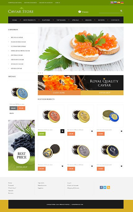 osCommerce Template 48495 Main Page Screenshot