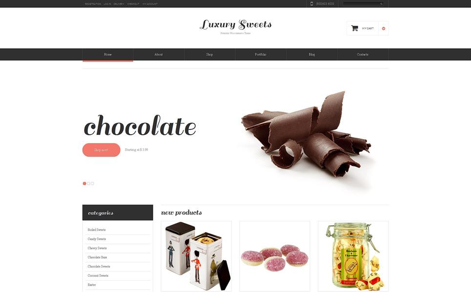 Адаптивний WooCommerce шаблон на тему магазин солодощів New Screenshots BIG