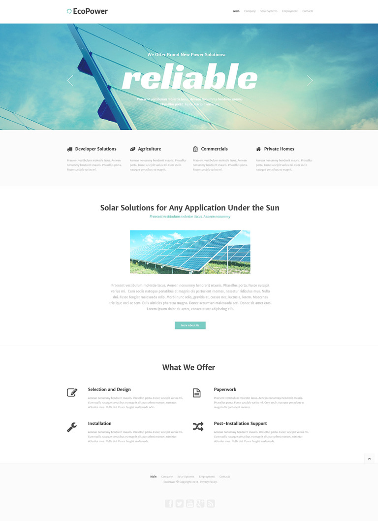Alternative Power Responsive Website Template New Screenshots BIG