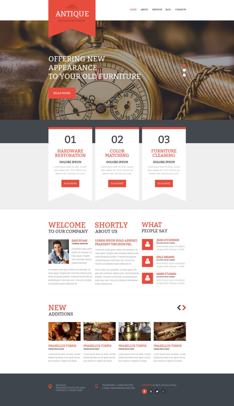 Antique Store Responsive Website Template New Screenshots BIG