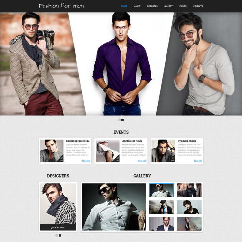 Fashion For Men - Joomla! Template based on Bootstrap