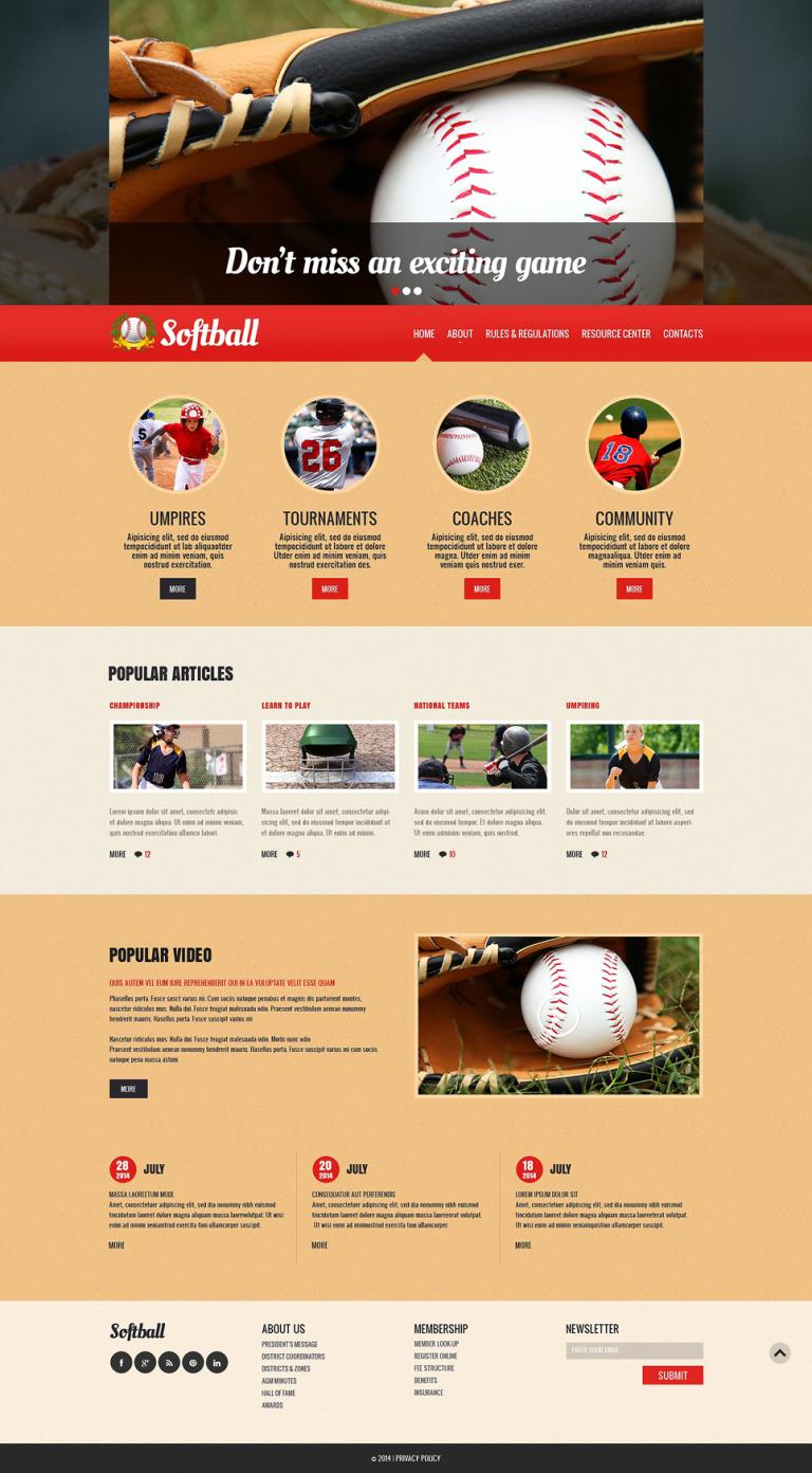 Baseball Responsive Website Template New Screenshots BIG