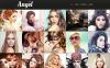 Bootstrap Шаблон сайту на тему модельне агентство New Screenshots BIG