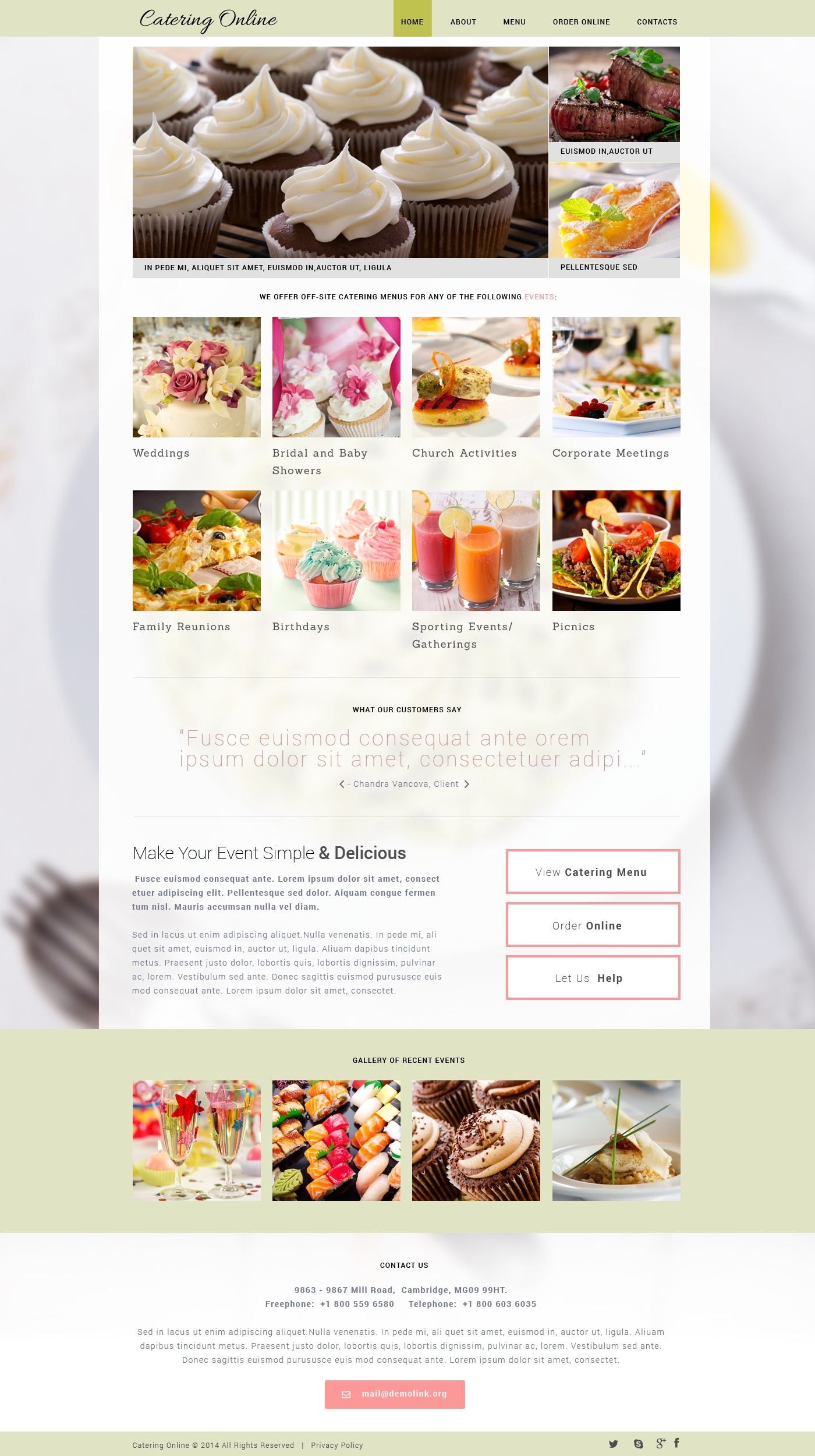 Catering Templates | TemplateMonster