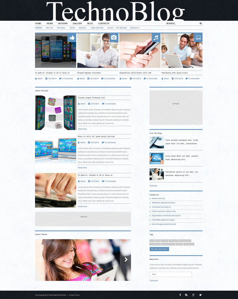 Electronics Review WordPress Theme New Screenshots BIG